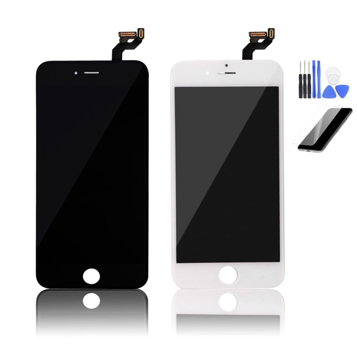 iPhone 6s Plus Black & White LCD Screen Assembly Side By Side Front