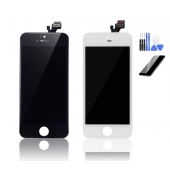 iPhone SE Black & White LCD Screen Assembly Side By Side Front